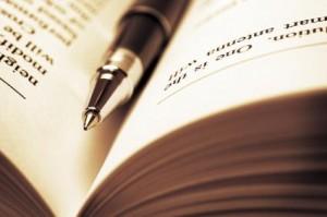 pen in book